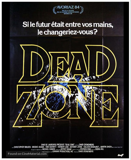 The Dead Zone - French Movie Poster