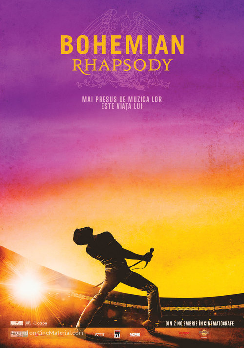 Bohemian Rhapsody - Romanian Movie Poster