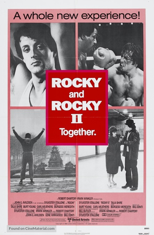 Rocky II - Combo movie poster