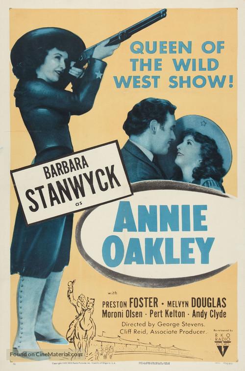 Annie Oakley - Re-release movie poster