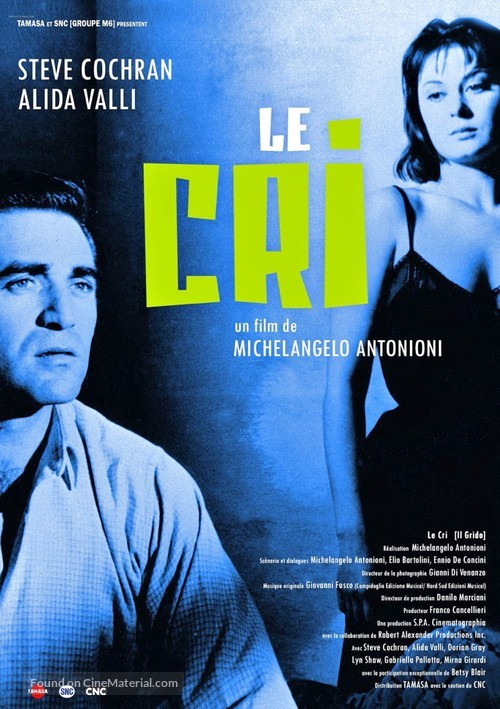 Il Grido - French Re-release movie poster