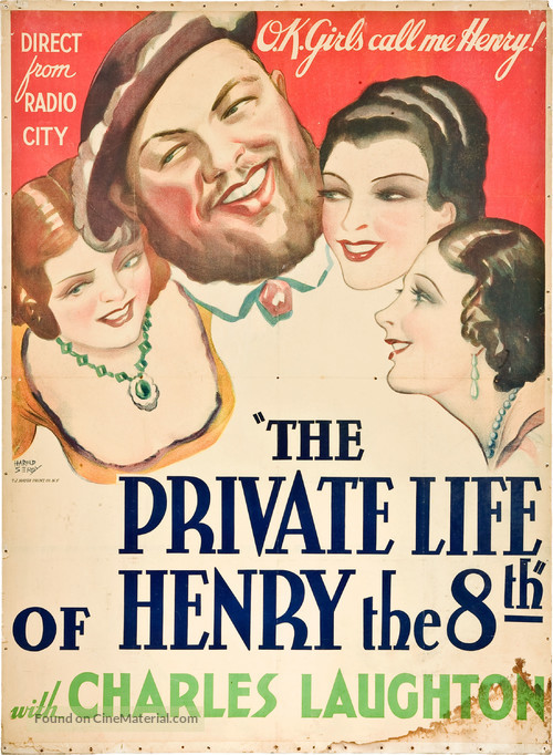 The Private Life of Henry VIII. - Theatrical movie poster