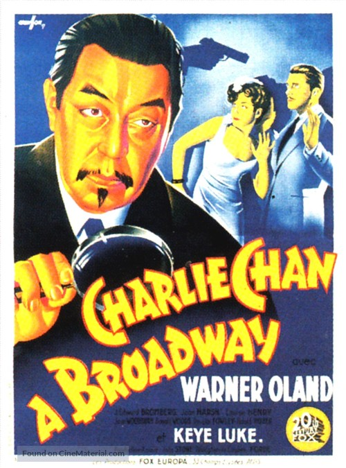 Charlie Chan on Broadway - French Movie Poster