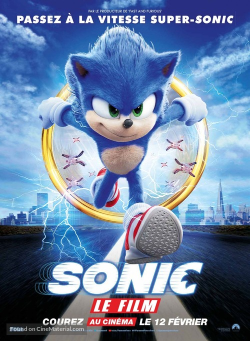 Sonic The Hedgehog 2020 French Movie Poster