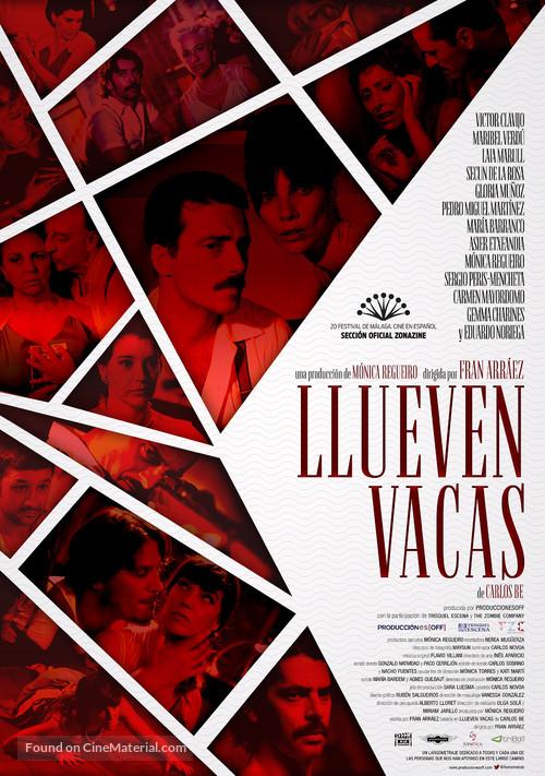 Llueven vacas - Spanish Movie Poster