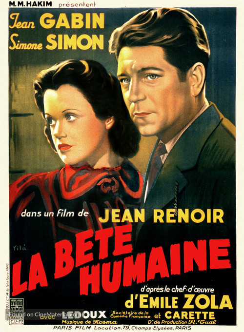 La bête humaine - French Movie Poster