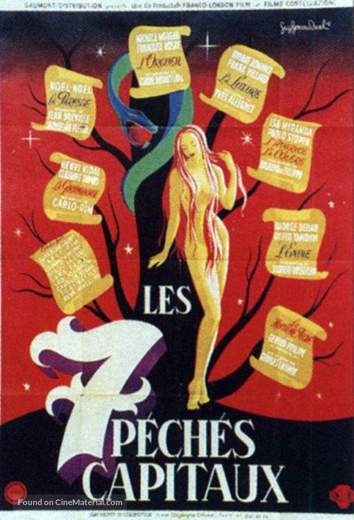 Sept pèchès capitaux, Les - French Movie Poster