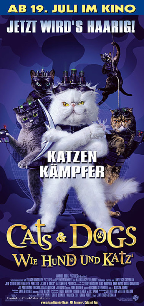 Cats & Dogs - German Movie Poster