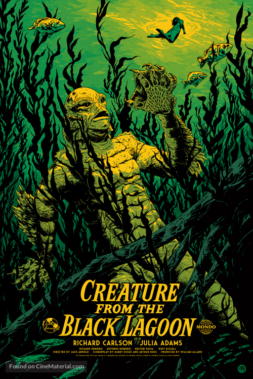 Creature from the Black Lagoon - Re-release movie poster