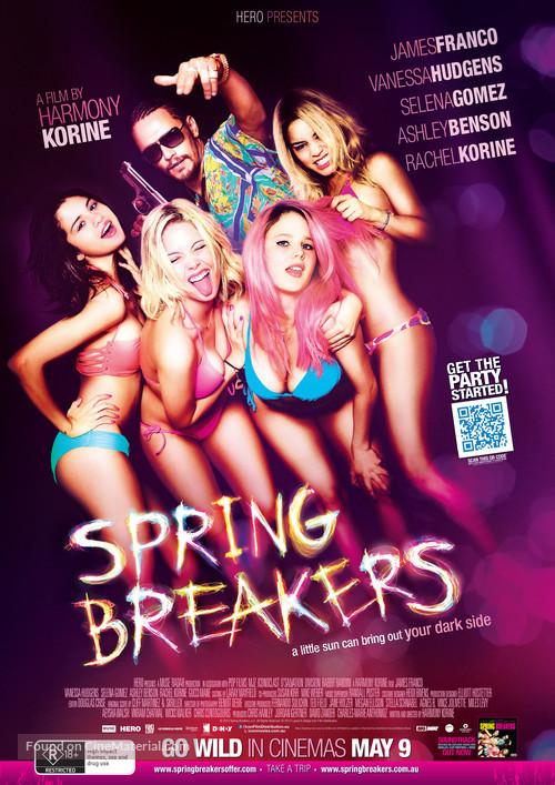 Spring Breakers - Australian Movie Poster