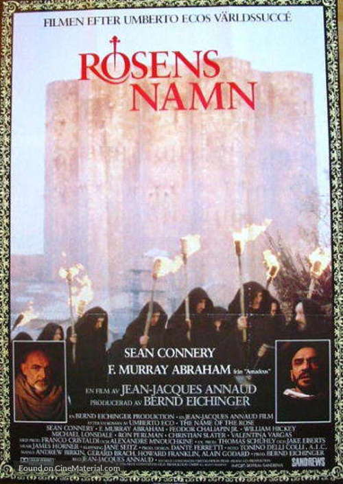 The Name of the Rose - Swedish Movie Poster
