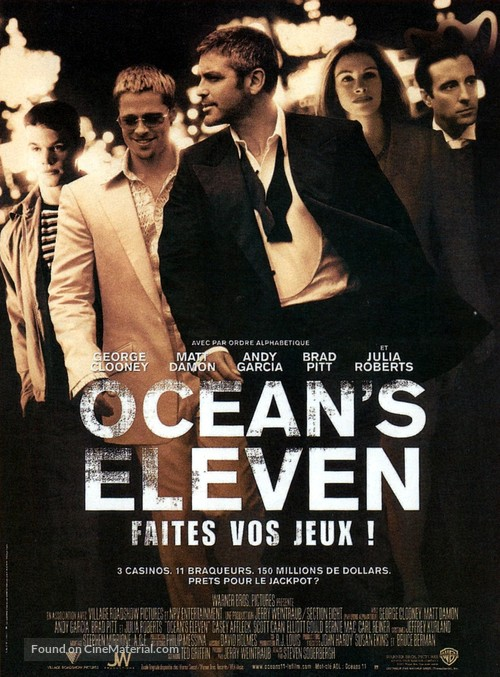 Ocean's Eleven - French Movie Poster