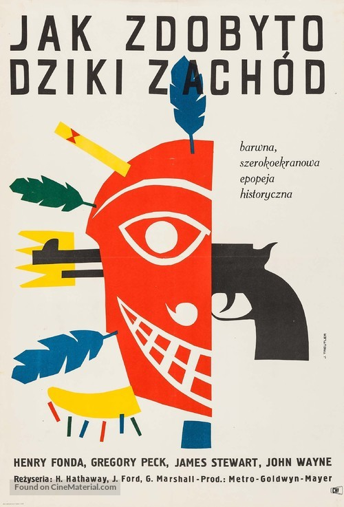 How the West Was Won - Polish Movie Poster