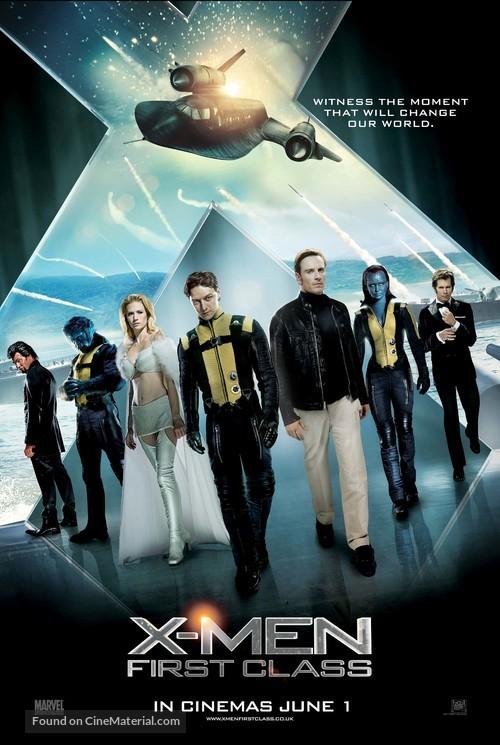 X-Men: First Class - British Movie Poster