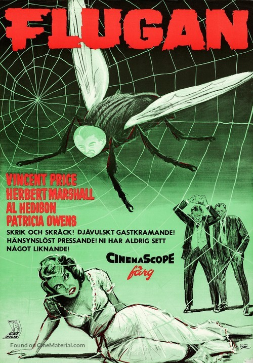 The Fly - Swedish Movie Poster