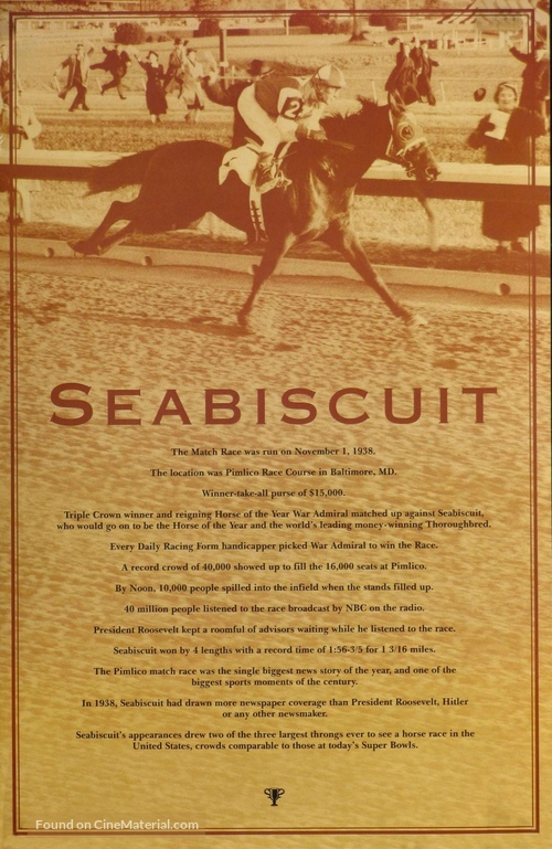Seabiscuit - Movie Poster