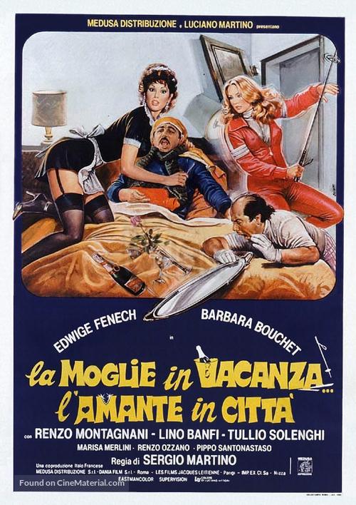 La moglie in vacanza... l'amante in città - Italian Theatrical movie poster