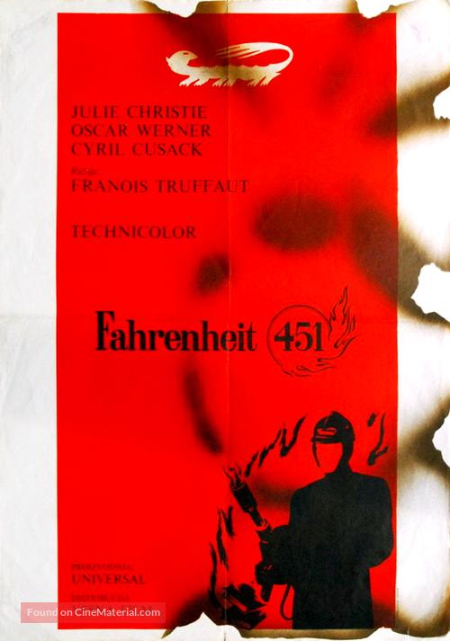 Fahrenheit 451 - Yugoslav Movie Poster