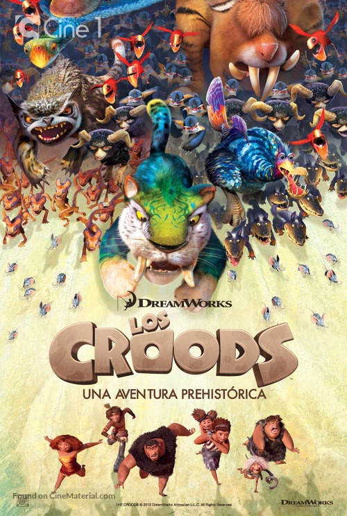 The Croods 2013 Spanish Movie Poster