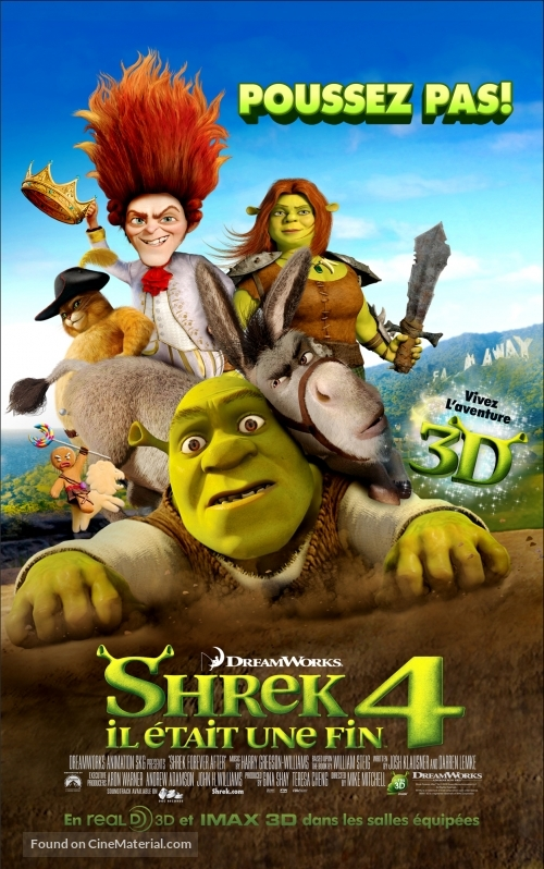 Shrek Forever After - French Movie Poster