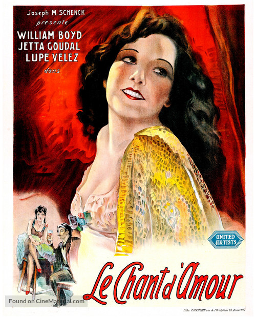 Lady of the Pavements - Belgian Movie Poster