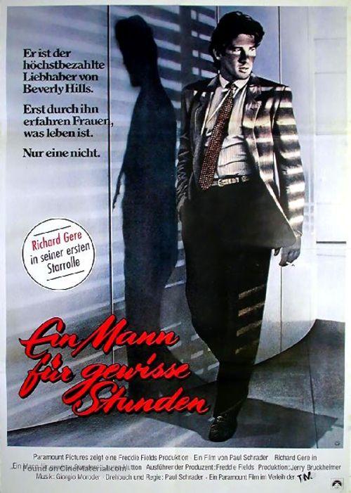 American Gigolo - German Movie Poster