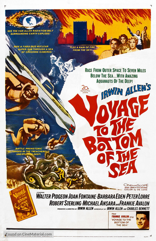 Voyage to the Bottom of the Sea - Theatrical movie poster