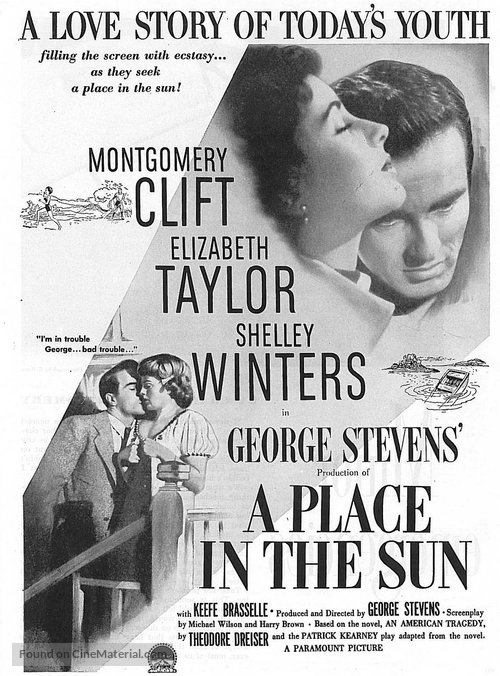 A Place in the Sun - Movie Poster
