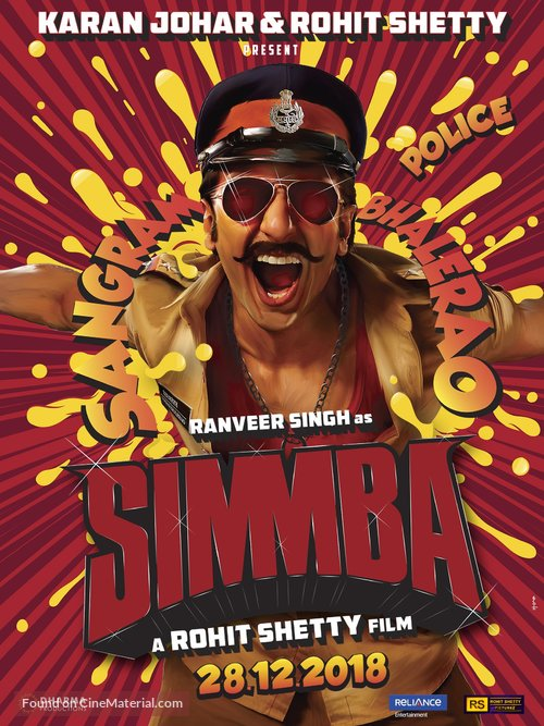 Simmba - Indian Movie Poster