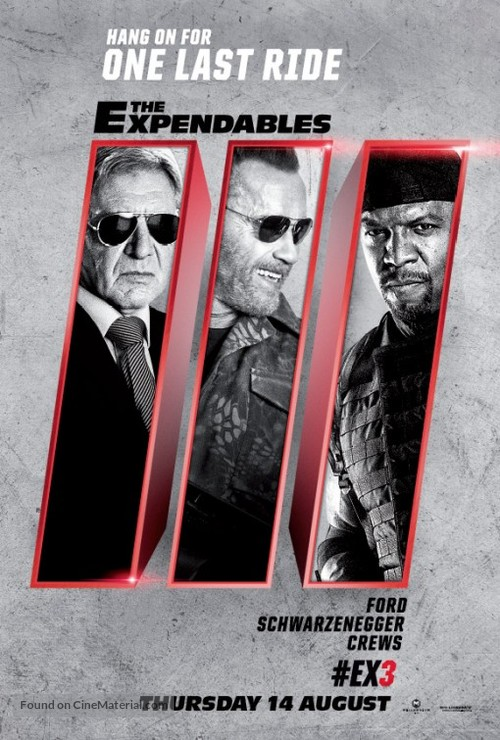 The Expendables 3 - British Movie Poster