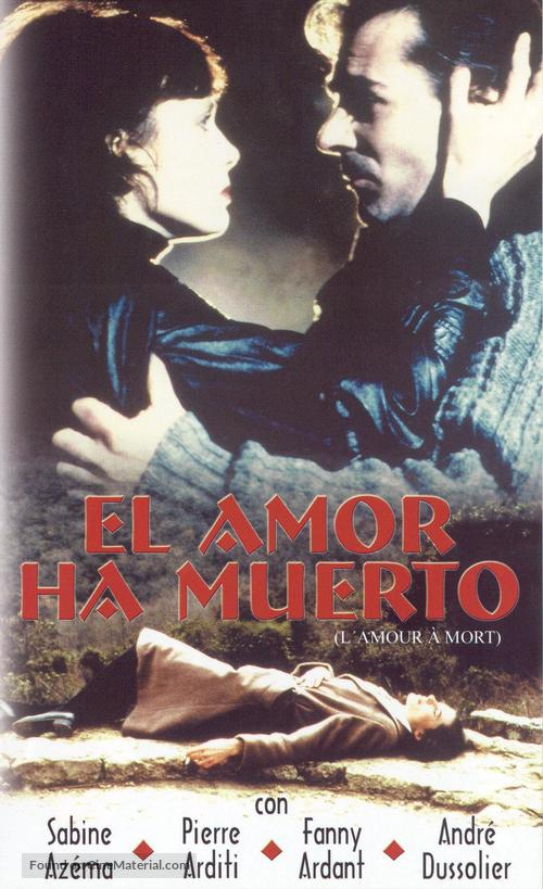 Amour à mort, L' - Spanish Movie Cover