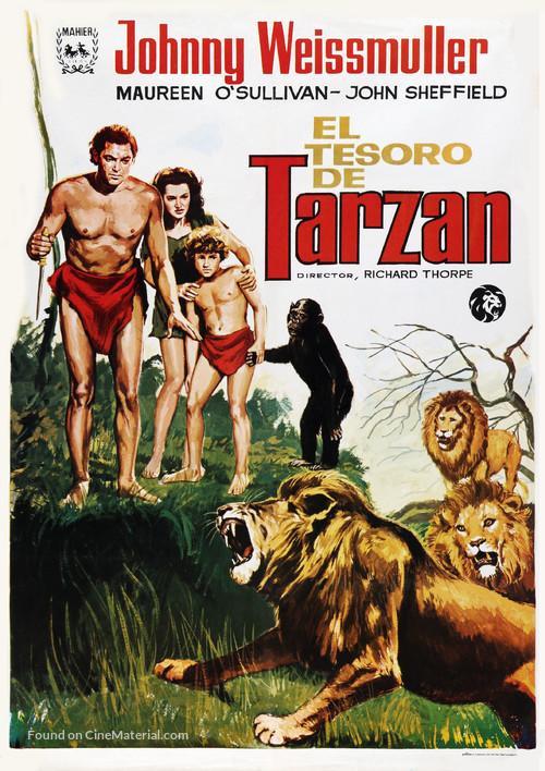 Tarzan's Secret Treasure - Spanish Movie Poster
