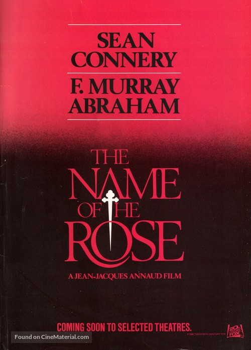 The Name of the Rose - Movie Poster
