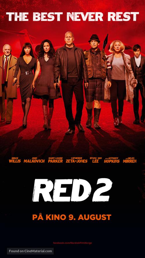 RED 2 - Norwegian Movie Poster