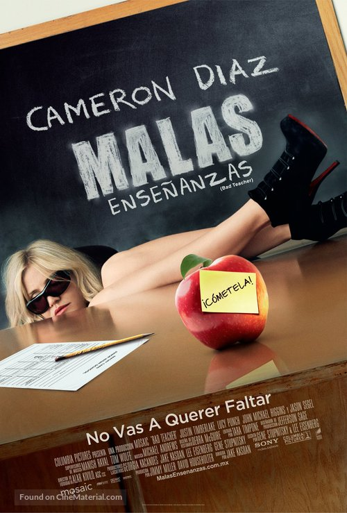 Bad Teacher - Mexican Movie Poster