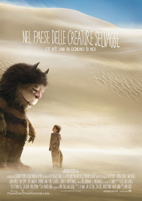 Where the Wild Things Are - Italian Movie Poster