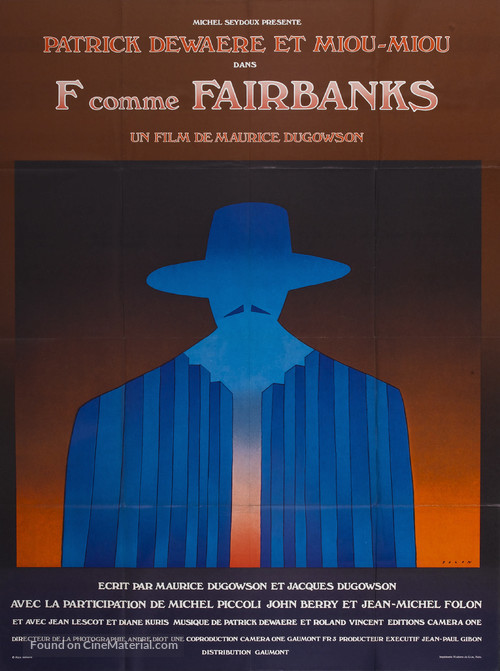 F comme Fairbanks - French Movie Poster