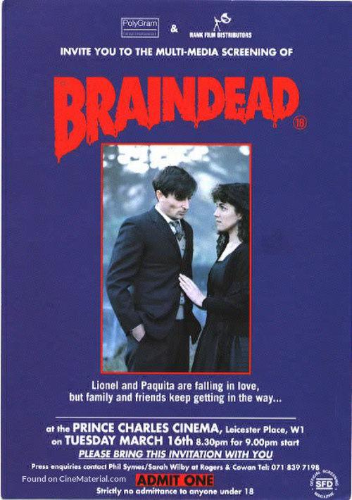 Braindead - British Movie Poster