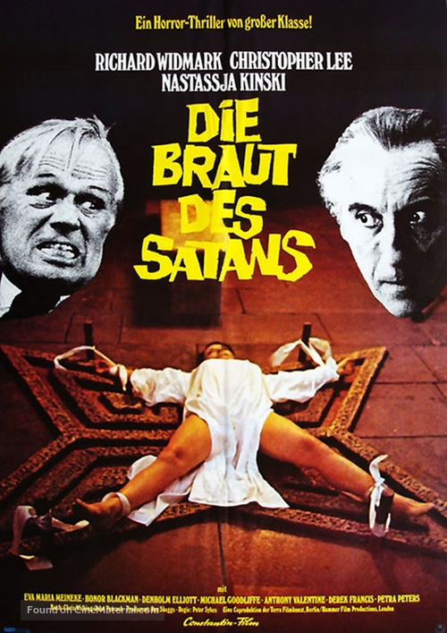 To the Devil a Daughter - German Movie Poster