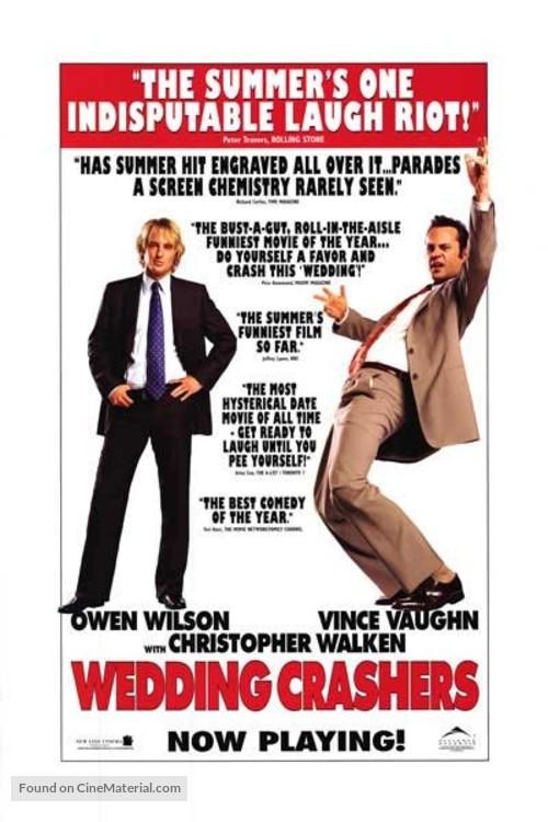 Wedding Crashers 2005 Canadian Movie Poster
