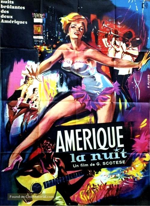 America di notte - French Movie Poster