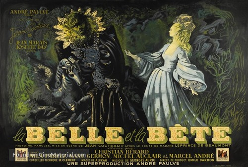 La belle et la bête - French Theatrical movie poster