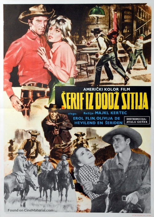 Dodge City - Yugoslav Movie Poster