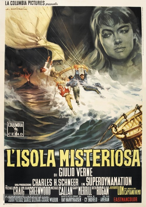 Mysterious Island - Italian Movie Poster