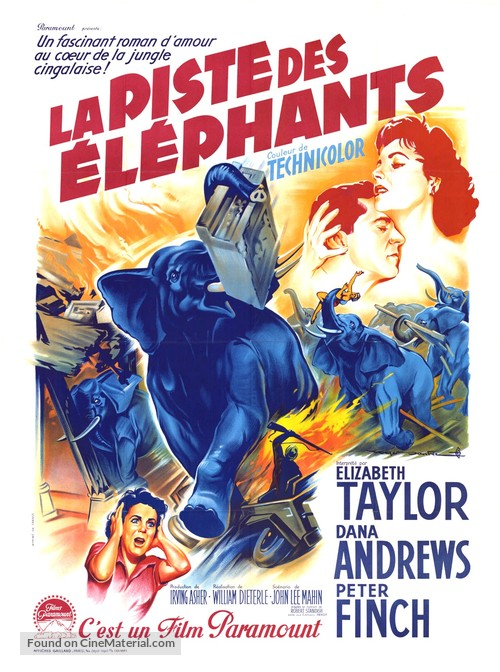 Elephant Walk - French Movie Poster