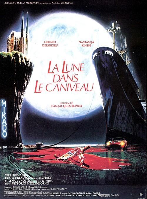 La lune dans le caniveau - French Movie Poster