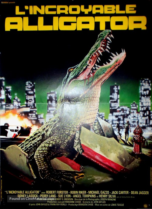 Alligator - French Movie Poster