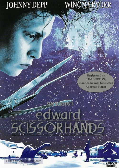 Edward Scissorhands - Swedish poster