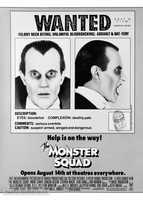 The Monster Squad - Movie Poster