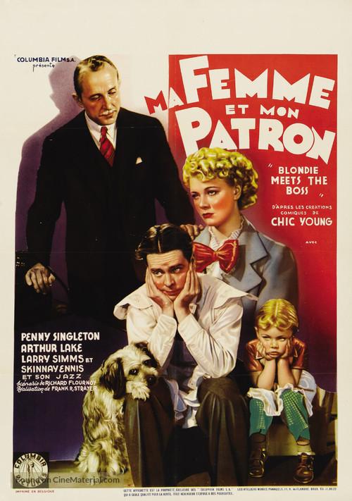 Blondie Meets the Boss - Belgian Movie Poster